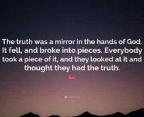 the truth was a mirror rumi